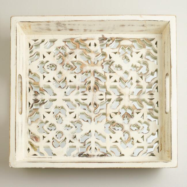 Mirrored Laser-Cut Tray