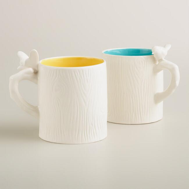 Woodland Mugs, Set of 2
