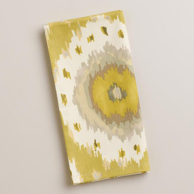 Citrus Ikat Dot Napkins, Set of 4