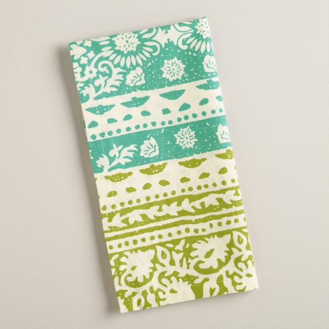Apple and Baltic Bantai Block Print Napkins, Set of 2