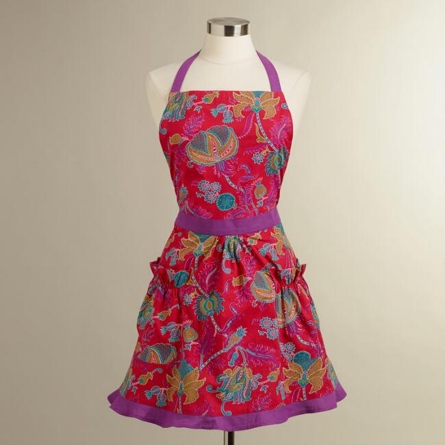Pink Floral Rania Apron