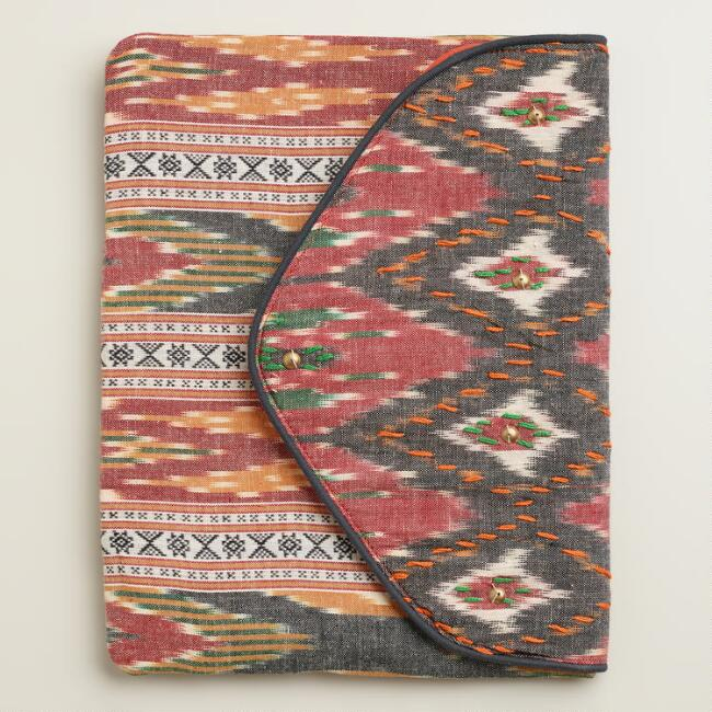 Red Ikat Clutch