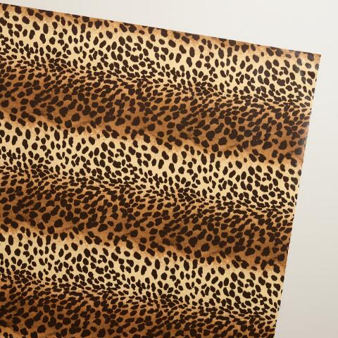 Leopard Print Wrapping Paper Roll. v1