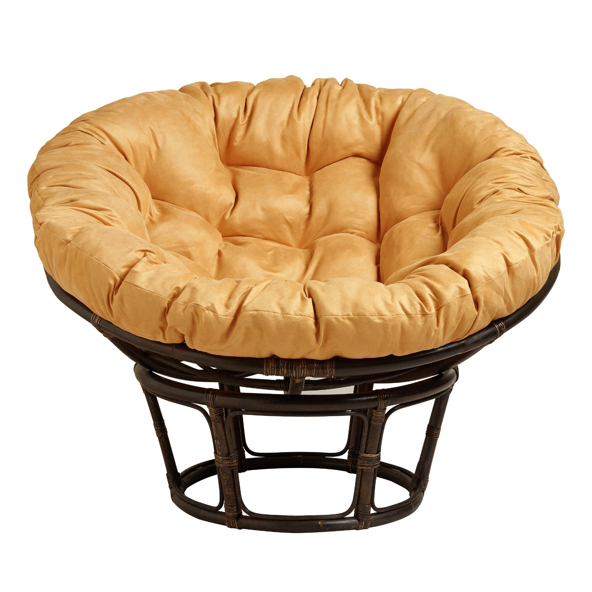 Amber Gold Micro Suede Papasan Chair Cushion