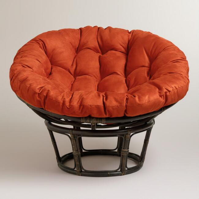 Rust Micro Suede Papasan Chair Cushion