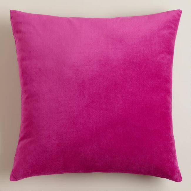Fuschia Velvet Throw Pillows : Fuchsia Velvet Throw Pillow World Market
