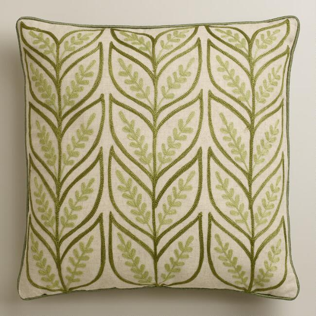 Green Sprouts Throw Pillow