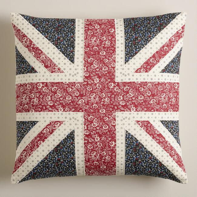 Union Jack Square Throw Pillow