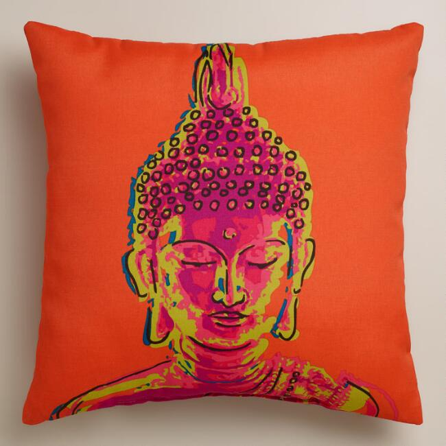 Buddha Outdoor Throw Pillow