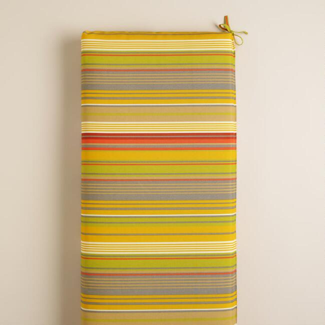 Waterfront Life Stripe Outdoor Bench Cushion