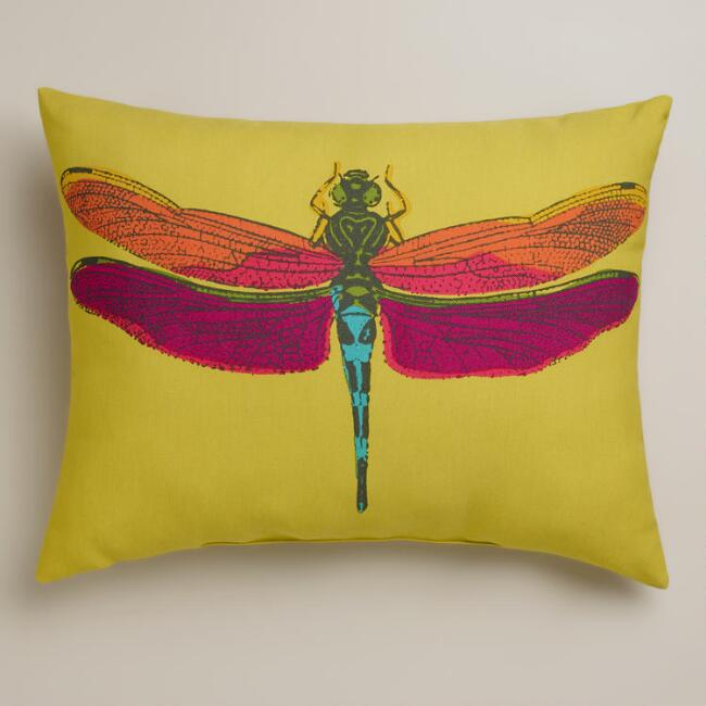 Dragonfly Outdoor Lumbar Pillow