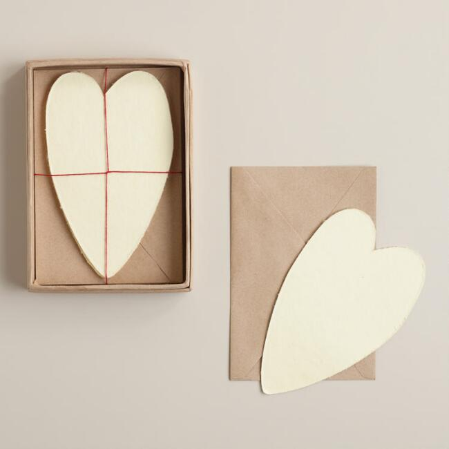 Heart Shaped Handmade Notecards Set of 8