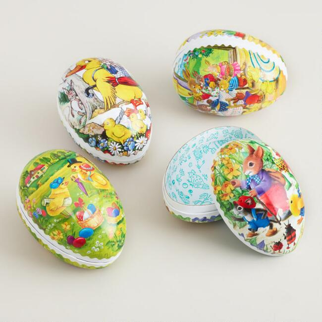 Small German Nesting Easter Egg Containers, Set of 4