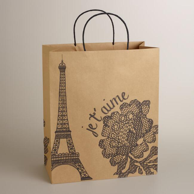 Jumbo Paris Je T'aime Kraft Gift Bag
