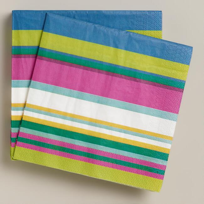 Thailand Stripe Lunch Napkins, 20-Count