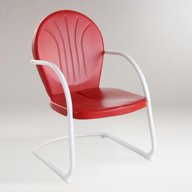 Red Durresi Metal Chair