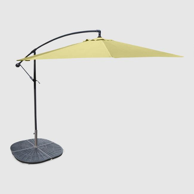 Canary Yellow Cantilever Outdoor Umbrella Collection