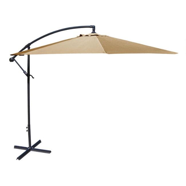10' Khaki Cantilever Umbrella