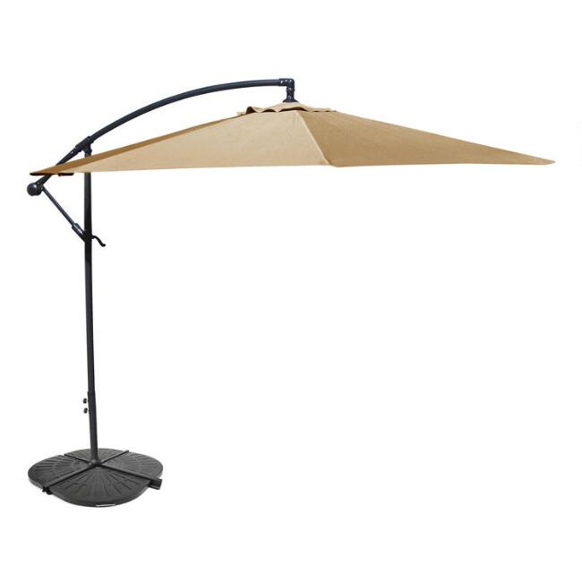 Khaki Cantilever Outdoor Umbrella Collection