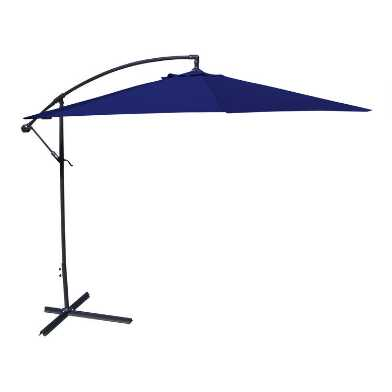 Navy Blue Cantilever Outdoor Umbrella