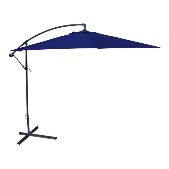 Navy Blue Cantilever Patio Umbrella