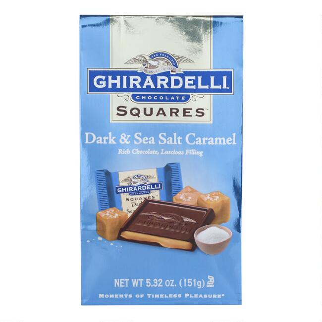 Ghirardelli Dark Chocolate Squares Sea Salt Caramel Filling