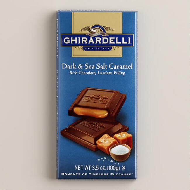 Ghirardelli Sea Salt Caramel Dark Chocolate Bar