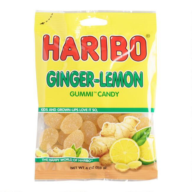 Haribo Ginger Lemon Gummy Candy Set Of 12