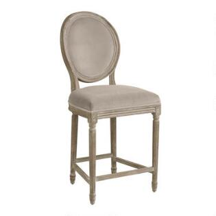 Round Back Paige Upholstered Counter Stool