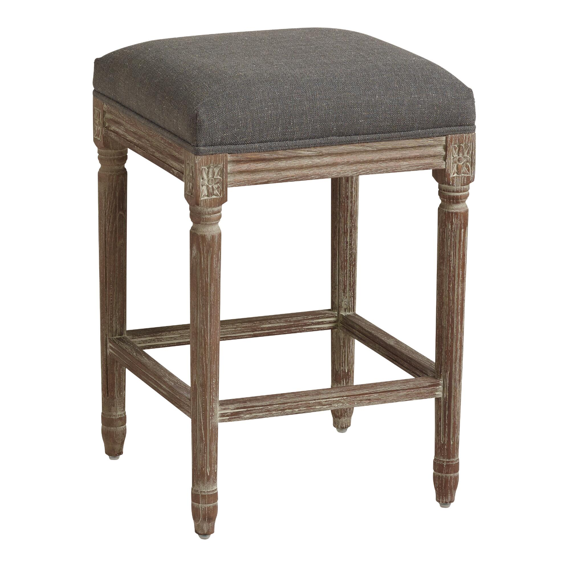 Backless Paige Upholstered Counter Stool World Market