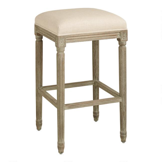 Backless Paige Upholstered Barstool
