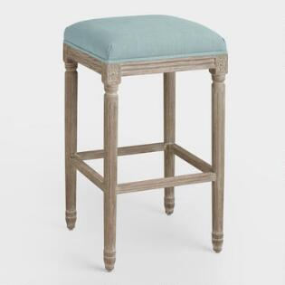 Natural Linen Paige Barstool World Market