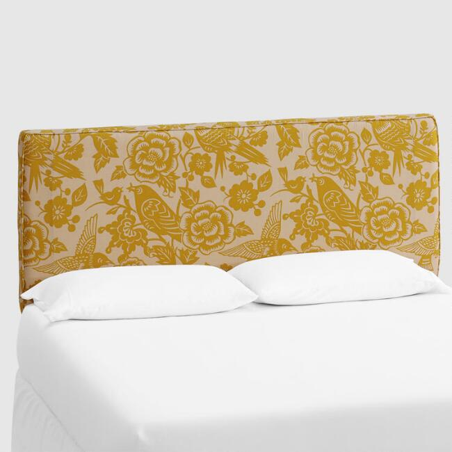 Maize Canary Loran Upholstered Headboard
