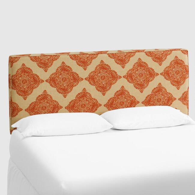 Terracotta Mani Loran Upholstered Headboard