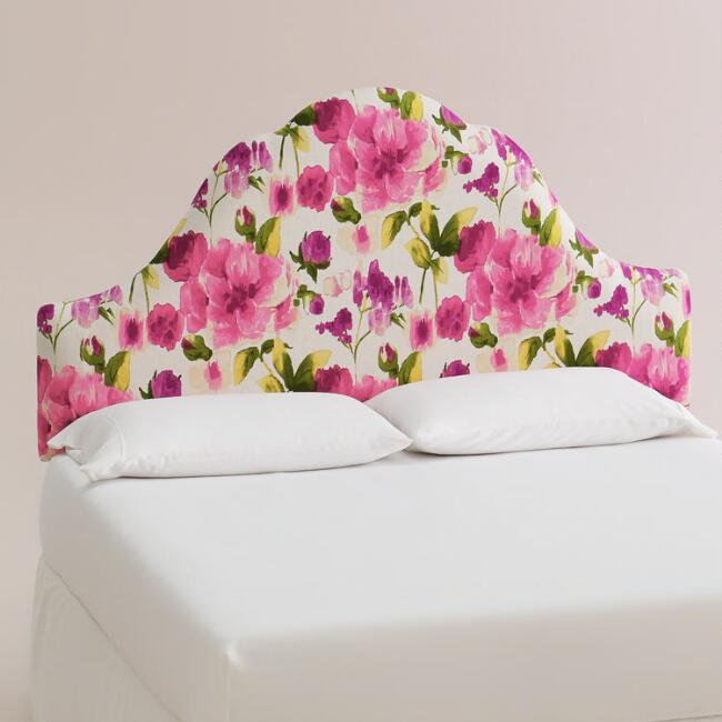 Raspberry Rosie Elsie Upholstered Headboard