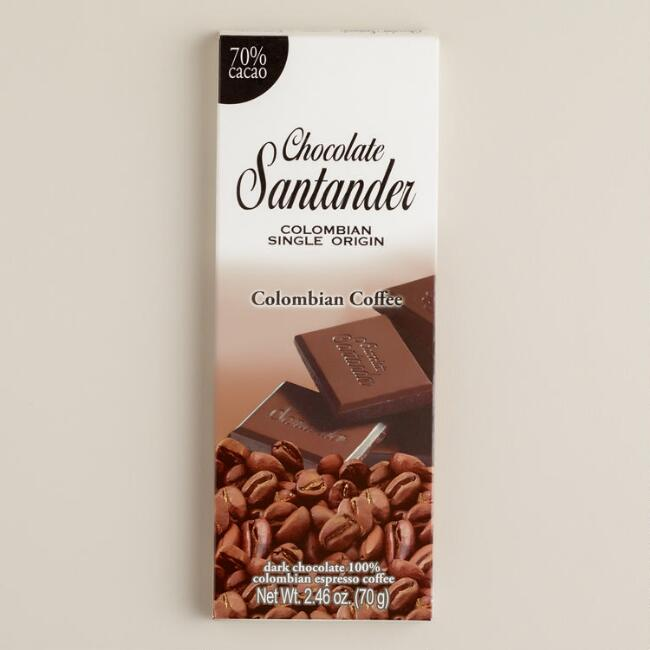 Santander 70% Dark Espresso Chocolate Bar