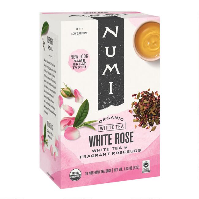 Numi Organic White Rose Tea 16 Count