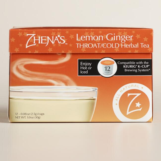 Zhena's Gypsy Tea Ginger Cold &Throat Tea Single Serve Cups