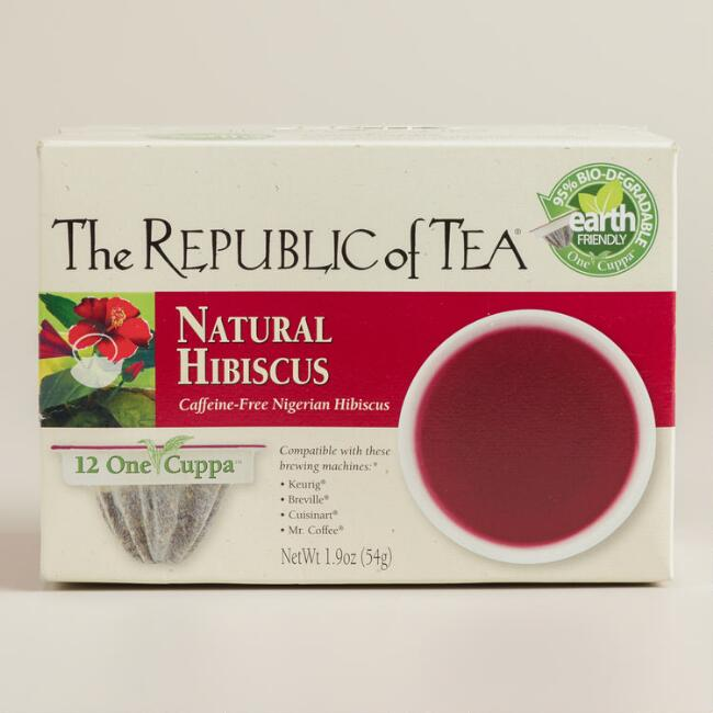 The Republic of Tea Natural Hibiscus One Cuppa Tea