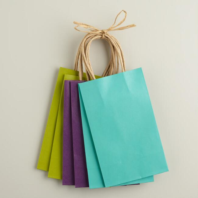 Small Spring Kraft Gift Bags, 6-Pack