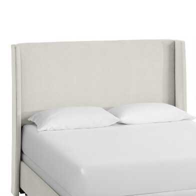 Dove Gray Velvet Wingback Bryn Upholstered Bed