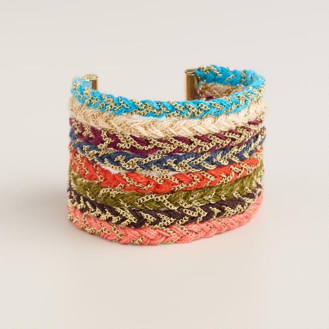 Multicolor Braided Chain Bracelet
