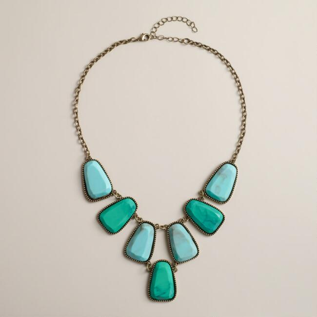 Turquoise Tonal Statement Necklace