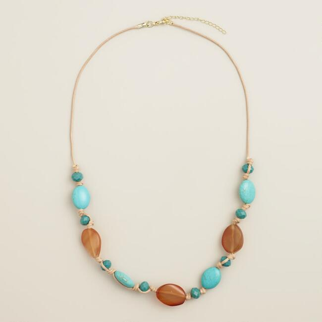 Turquoise and Amber Necklace