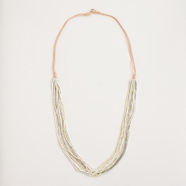 Long Multi-Strand Bead Necklace