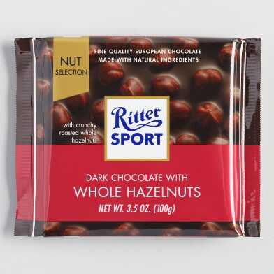 Ritter Sport Dark Chocolate with Hazelnuts Bar Set of 10