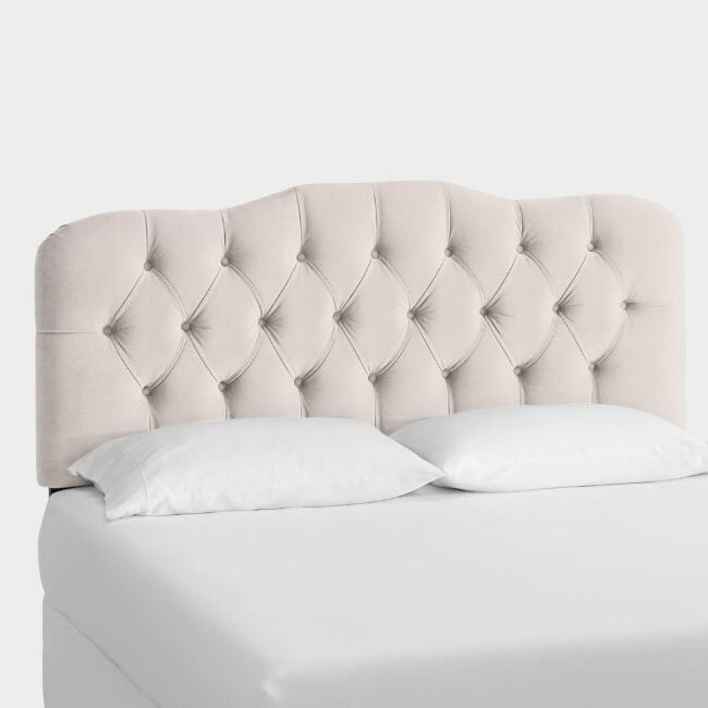 Velvet Tufted Rae Upholstered Headboard