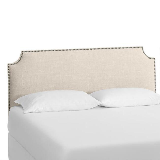Linen Caiden Upholstered Headboard World Market
