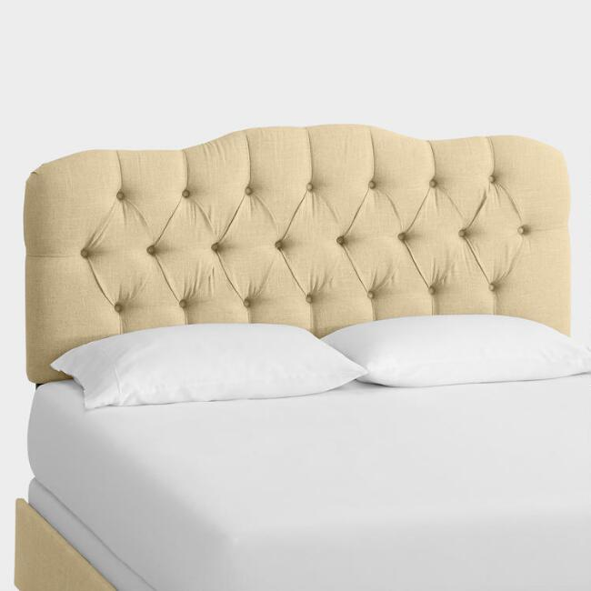 Linen Tufted Rae Upholstered Bed