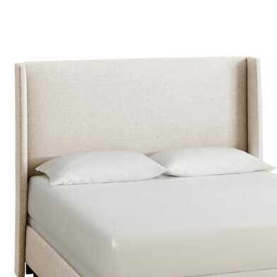 Linen Wingback Bryn Upholstered Bed